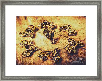 Scooting Around Framed Print