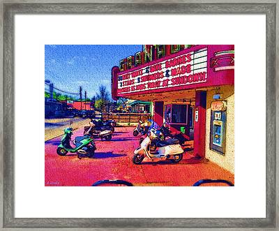 Scooting To The Show Framed Print