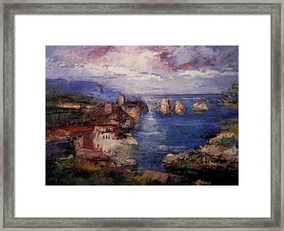 Scopello In Sicily Iv Framed Print by R W Goetting
