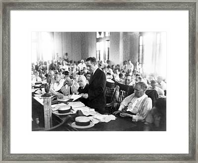 Scopes Trial, July 10�21, 1925, Dayton Framed Print