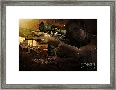 Scopped Framed Print