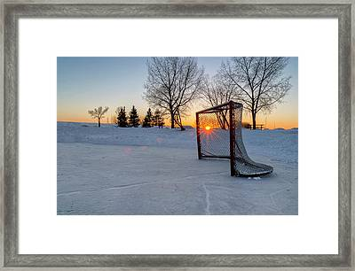 Framed Print featuring the photograph Scoring The Sunset 2 by Darcy Michaelchuk