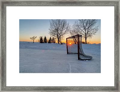 Scoring The Sunset 2 Framed Print by Darcy Michaelchuk