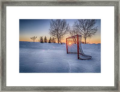 Scoring The Sunset 3 Framed Print by Darcy Michaelchuk