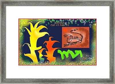Framed Print featuring the digital art Scorpio by The Art of Alice Terrill