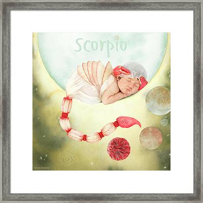 Scorpio Framed Print by Anne Geddes