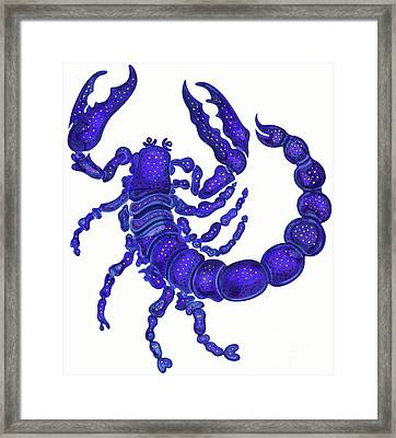 Scorpio Framed Print by Jane Tattersfield