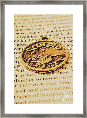 Scorpio Star Sign Token Framed Print