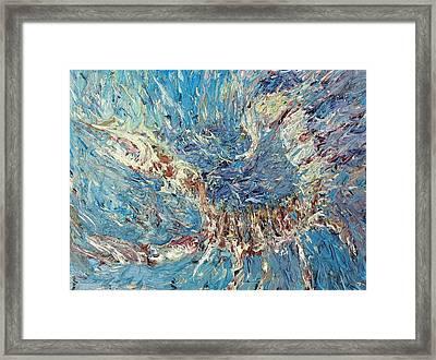 Scorpion Oil Painting Framed Print by Fabrizio Cassetta