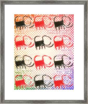 Scorpionish Framed Print by Tommytechno Sweden