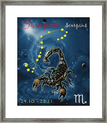 Scorpius And The Stars Framed Print