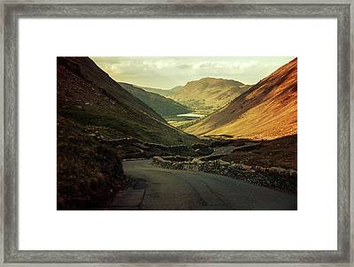 Scotland At The Sunset Framed Print