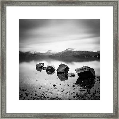 Scotland Lomond Rocks Framed Print by Nina Papiorek