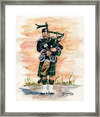 Scotland The Brave Framed Print by Timithy L Gordon