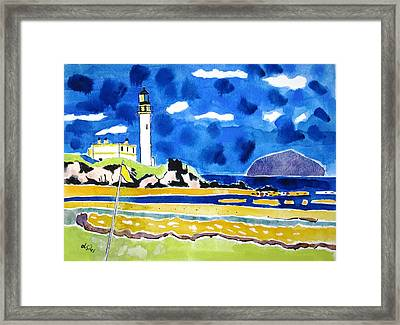 Scotland Turnberry 10 Framed Print by Lesley Giles