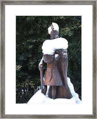 Scots Snowman Framed Print by Staci-Jill Burnley
