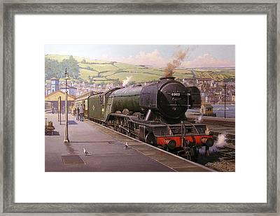 Scotsman At Kingswear Framed Print by Mike  Jeffries