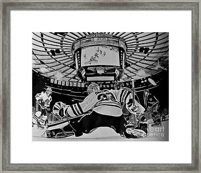 Scott Darling - First Nhl Shutout Framed Print by Melissa Goodrich