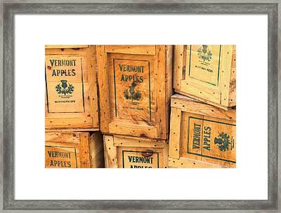 Scott Farm Apple Boxes Framed Print