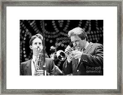 Scott Hamilton And Warren Vache  Framed Print by The Harrington Collection
