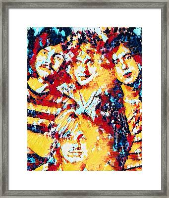 Led Zeppelin Abstract Framed Print by Scott Wallace