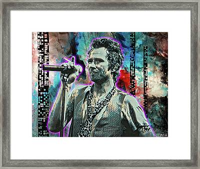 Scott Weiland - Silvergun Superman Framed Print