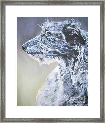 Scottish Deerhound Framed Print by Lee Ann Shepard