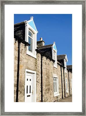 Scottish Homes Framed Print