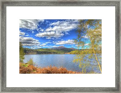 Scottish Loch Garry Scotland Uk Lake West Of Invergarry On The A87 South Of Fort Augustus Hdr Framed Print