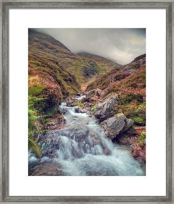 Scottish Mountain Stream Framed Print by Ray Devlin