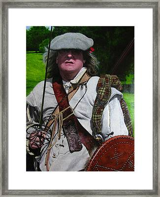 Framed Print featuring the painting Scottish Soldier Of The Sealed Knot At The Ruthin Seige Re-enactment by Harry Robertson
