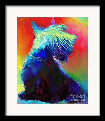 Scottish Terrier Art Framed Prints
