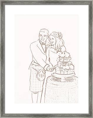 Scottish Wedding Framed Print by Olimpia - Hinamatsuri Barbu