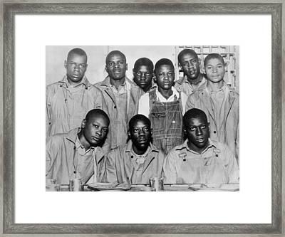 Scottsboro Boys In Jefferson County Framed Print by Everett