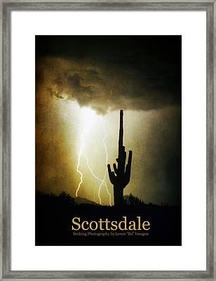Scottsdale Arizona Fine Art Lightning Photography Poster Framed Print