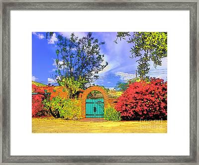 Scottsdale Gate Framed Print