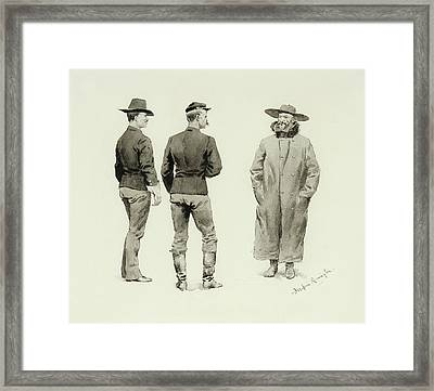 Scout With Two Troopers Framed Print by MotionAge Designs