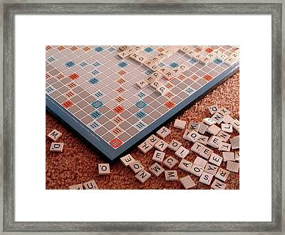 Scrabble Board Framed Print