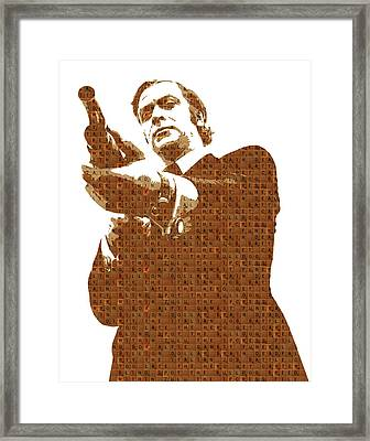 Scrabble Get Carter Framed Print by Gary Hogben