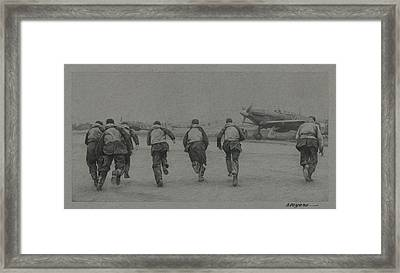 Scramble Framed Print by Wade Meyers