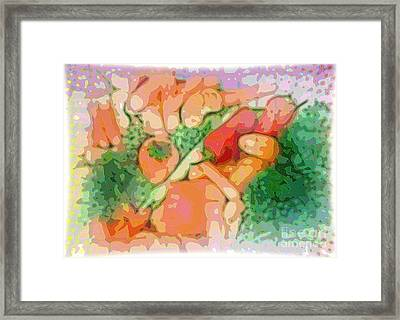 Scrambled Salad By Patricia Griffin Framed Print