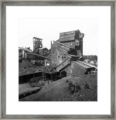 Scranton Pennsylvania Coal Mining - C 1905 Framed Print