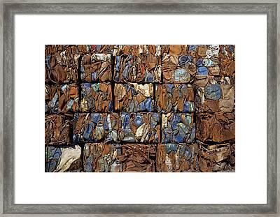 Scrap Metal Bales Framed Print by Dirk Wiersma