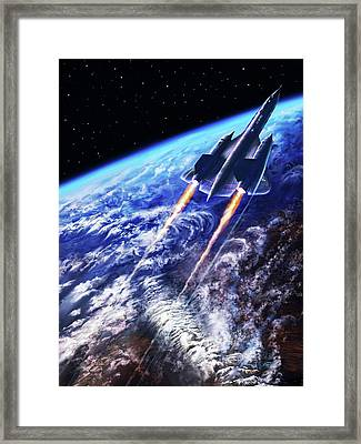 Scraping Outer Spheres Framed Print