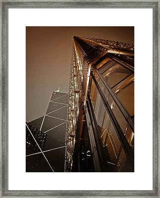 Scraping The Sky Framed Print