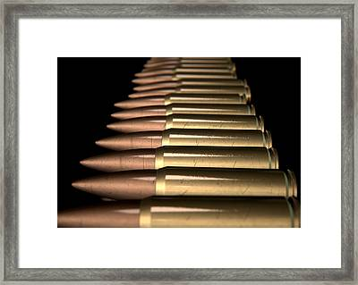 Scratched Bullet Row Framed Print by Allan Swart