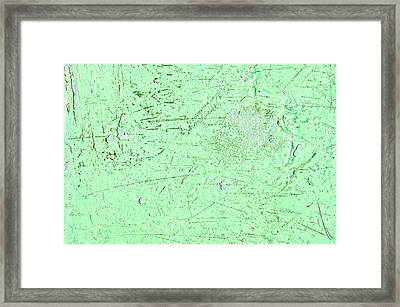 Scratched Metal Framed Print