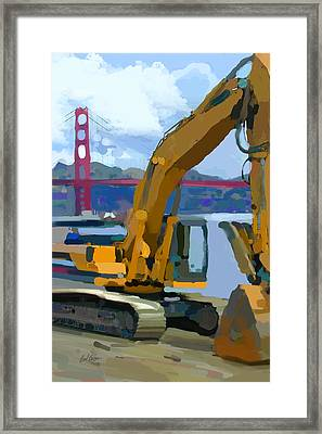 Scratcher Framed Print by Brad Burns