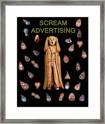 Scream Advertising Framed Print by Eric Kempson