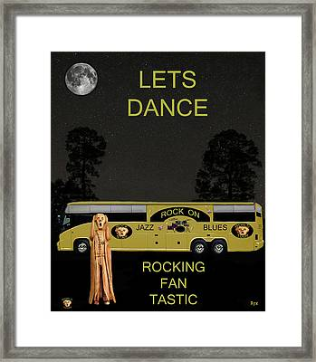 Scream Blues Rock Tour Framed Print by Eric Kempson